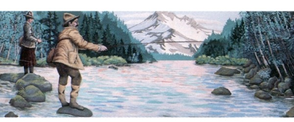Fishing the Clackamas Mural